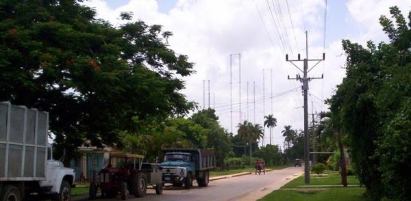 Le centre émetteur n°1 de Bauta vu de Corralillo