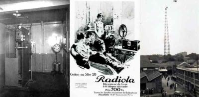 Radiola, la première station privée de radiodiffusion à Paris.